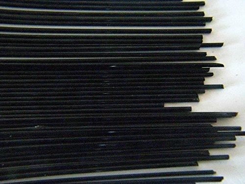 Devardi Glass COE 90 1/4 lb Spaghetti Stringers, 2mm, Opaque Black, 4 ounces Fusing, Beadmaking Rods
