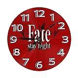 掛け時計 Fate/Stay Night(フェイト/ステイナイト) 電波時計 おしゃれ アニメ 連続秒針 静音 壁掛け時計 掛時計 インテリア 大数字 見やすい 25cm Yamadei