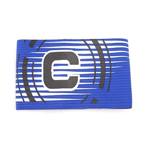 LLLucky Football Captain Brazalete Elástico Ajustable Brazalete Líder Fútbol Competición Azul