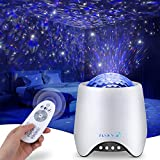 Flyinwe Room Decor Star Projector, Galaxy Projector for Halloween, Night Light for Kids, Ceiling Projector for Teen Girls, Led Lights for Bedroom, Music Speaker, White Noise Sound Machine