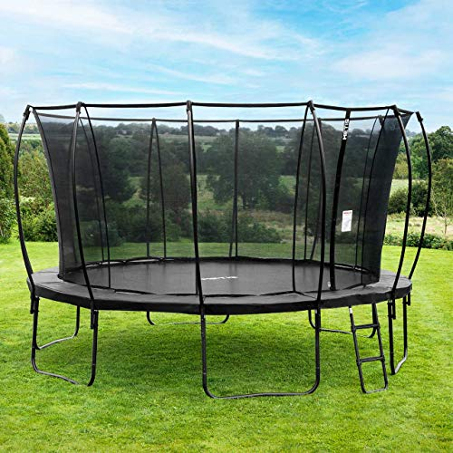 METIS Garden Trampolines – 8ft, 10ft, 12ft, 14ft,15ft | Family Outdoor Fun – Padded Springs and Tall Net Enclosure (12ft, Apollo)