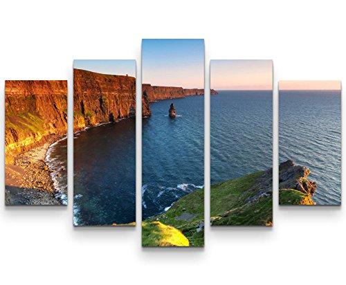 SIN-US 74 Wandbild (Gesamtmaß: 150x100cm) Cliffs of Moher - Sonnenuntergangsstimmung
