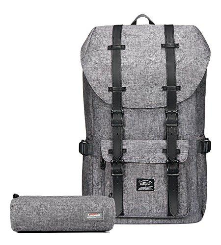 Outdoor Laptop-Rucksack, Reisen Wandern & Camping Rucksack Pack, Casual groß College Schule Tagesrucksack, Schulter Buch Taschen Rücken passt 38,1cm Laptop & Tablets von Kaukko