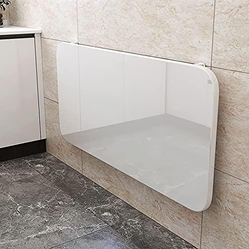 CANG Soporte de Tableta montado en la Pared, Mesa Flotante Plegable, Escritorio de Pintura de Piano, Ahorro de Espacio,White-50 * 40cm
