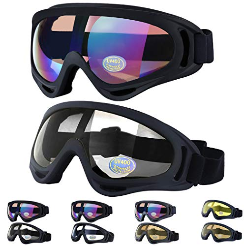 Outgeek Ski Goggles, 2-Pack Skate Glasses with UV 400 Protection...