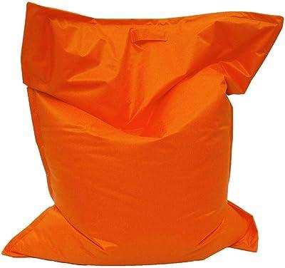 Italpouf Poltrona Sacco Ecopelle XL Bambini Pouf Sacco Grande Rettangolare Pouf A Sacco Sfoderabile Cuscinone Grande Pouf Poltrona Sacco 21 Colori! Imbottito Cuscinone XL: 140x100 cm, Arancione