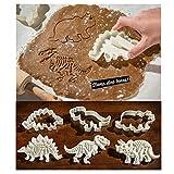 Yilin Stampo per Biscotti Dinosauro, Stampo per Biscotti 3D Dinosauro Stampo per Torta 6 Pezzi di Stampo per Cioccolato Crema, Adatto Ai Bambini per Realizzare Dolci E Biscotti Dolci