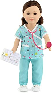 "Emily Rose 18 Inch Doll Clothes Pet 6 Piece Doctor Doll Veterinarian Outfit with Accessories | Clothing Fits 18"" American ..."