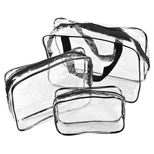 Starcrafter Sacchetto trasparente cosmetico Set da viaggio 3pcs