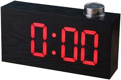 Nrpfell Reloj de Espejo LED Digital Multifunción Reloj de Alarma ...
