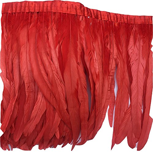 Lowest Prices! MIPPER 10 Yards 12~14inch/30~35cm Wide Cock Chicken Tail Feather Trim Fringe for DIY ...