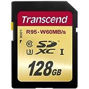 Transcend SDXC UHS-I U3 128 GB Speicherkarte (95 MB/s Lesen, 60MB/s Schreiben)