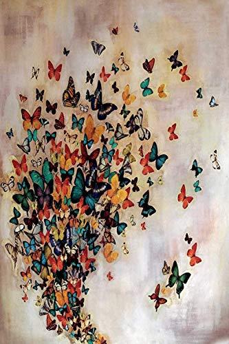Rompecabezas 1000 piezas de rompecabezas de madera Puzzles de madera Rompecabezas Mariposa de colores Bricolaje Rompecabezas de madera Regalo único Estilo de decoración del hogar