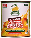 Kubalwadi Ratnagiri Alphonso Mango Pulp (Aamras) 100% Natural 850 gm