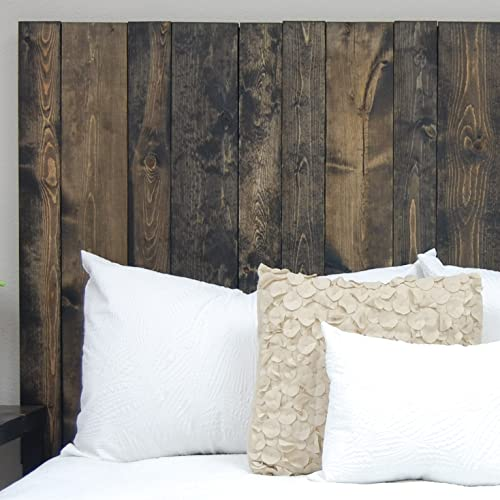 Ebony Headboard King Size Stain, Leaner Style, Handcrafted. Leans on Wall. Easy Installation