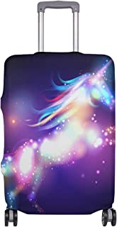 Mydaily Colorful Galaxy Unicorn Luggage Cover Fits 30-32 Inch Suitcase Spandex Travel Protector XL