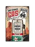 Asher Plaque en métal rétro nostalgique - Autoroute américaine - Route 66 Plaque de Station-Service Décoration Murale rétro Affiche de Club de bière familiale, Taille 20cm*30cm (8inch * 12inch)