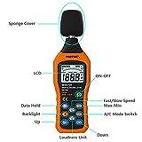 Protmex Medidor de Sonido Sonómetro Digital Registrador de Decibelios LCD...