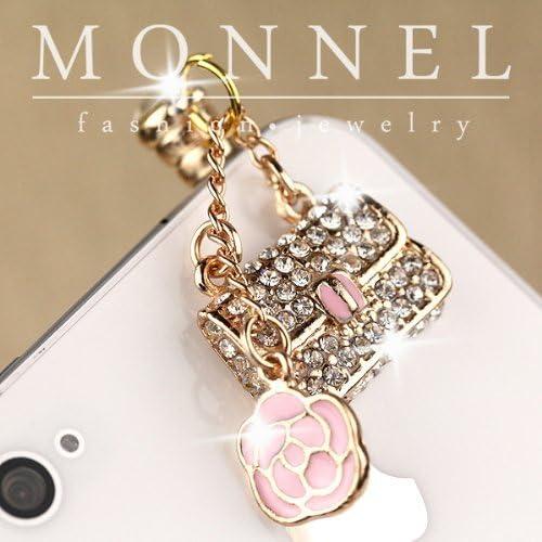 IP564-B Luxury Crystal Lady Rose Purchase Charm Handbag Purse Cell Max 68% OFF Phone
