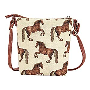 Signare Tapestry Small Cross body Bag Sling Bag for Women with Whistlejacket Designs (SLING-WHISTLE)