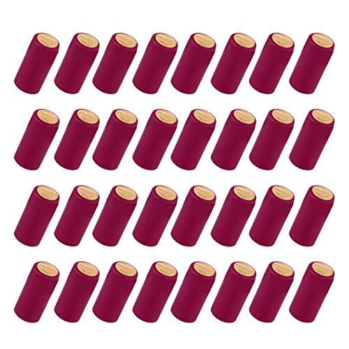Hemoton 100Pcs Cápsulas Termocontraíbles Tapas de Botellas de Vino Envoltura Retráctil de Vino Adecuada para Botellas de Vino