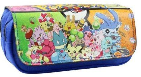 Estuche para lápices de Pokemon azul para niños Craze UK con dos compartimentos: Amazon.es: Oficina y papelería