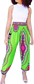 Womens African Dashiki Boho Floral Casual Loose Baggy Harem Hippie Lounge Pants Trousers