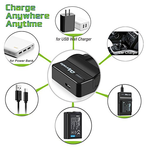 OAproda 2 Pack EN-EL19 Battery and Rapid USB Charger for Nikon Coolpix S32, S33, S100, S2800, S3100, S3200, S3300, S3500, S3600, S3700, S4100, S4200, S4300, S5200, S5300, S6500, S6800, S7000 Camera