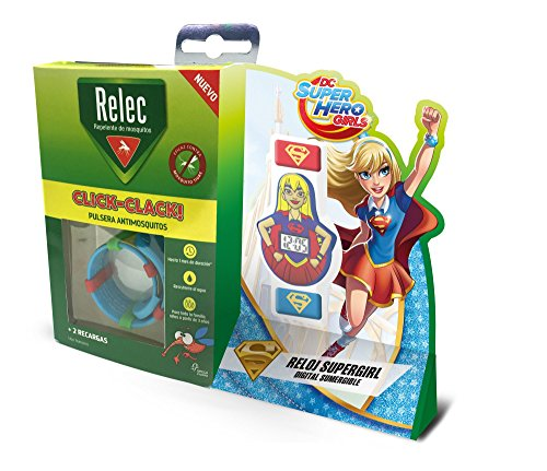 Relec Pulsera Repelente Antimosquitos Superhéroes Super Girl - 1 Unidad