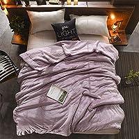 北欧 ウール柔らかい毛布 ブランケット 膝掛け 多機能 二枚合わせ クイーン ピンク