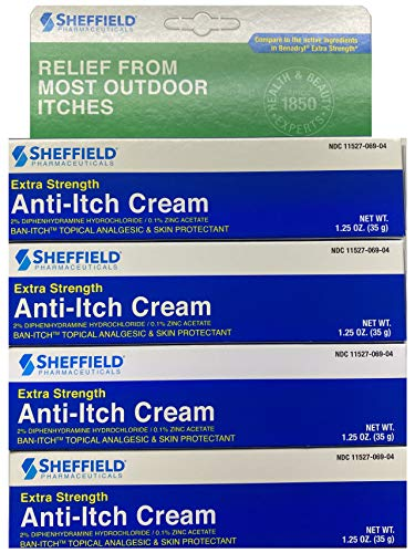 Dr. Sheffield's Anti-itch Cream with Histamine Blocker - 1.25 Oz. (4)