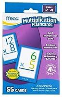 [ミード]Mead Multiplication Flashcards, 55 Cards, Grades 24 63024 [並行輸入品]