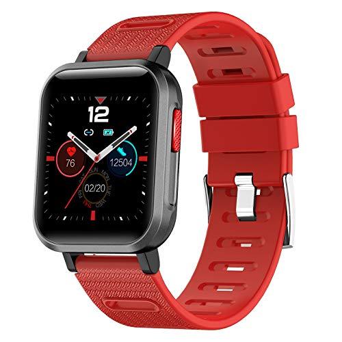 HCLKSTORE Fitness Tracker Smartwatch Impermeable IP68 Pulsera Actividad Inteligente con Pulsómetro Podómetro Monitor de Sueño para Hombre Mujer Niños con iOS y Android