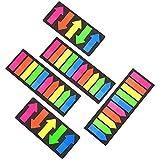 Cizen Marcadores Adhesivos, Notas Adhesivas Índices, 800 Piezas Coloreado Transparente Marcadores de Página, Adecuado para Lectura, Actas de Reuniones, Escuelas, Oficinas