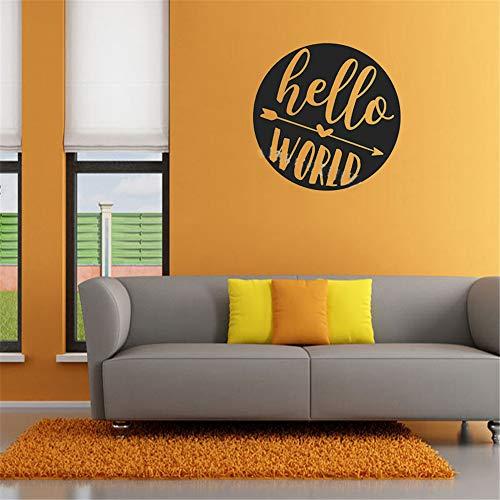 sticker mural Hello World Quotes arrow Pattern For Kids chambre Chambre d'enfant décor à la maison