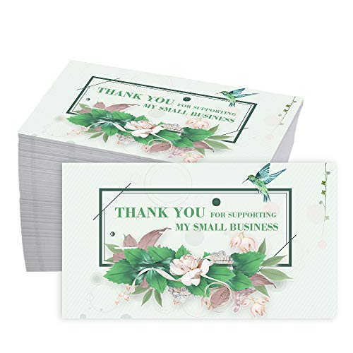 (50% OFF Coupon) Thank You for Supporting My Business Cards 100Pcs $8.00