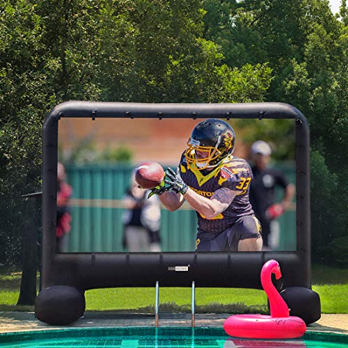 VIVOHOME 14 Feet Indoor and Outdoor Inflatable Blow up Mega Movie Projector Screen with Carry Bag for Front and Rear Projection