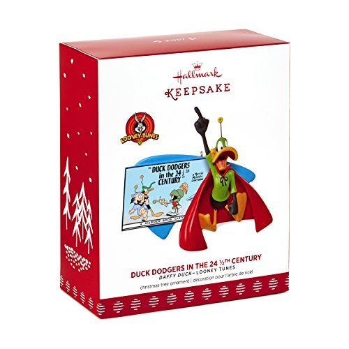 Hallmark Keepsake 2017 LOONEY TUNES Duck Dodgers in the 24 1/2th Century DAFFY DUCK Christmas Ornament