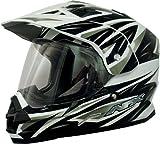 AFX FX-39 Dual Sport Motorcycle Helmet Strike Black Multi LG