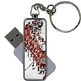 Niña Personalizado Compatible con USB Disk Capacity 8Gb con Hockey 6 Metal Choose Design 7-2