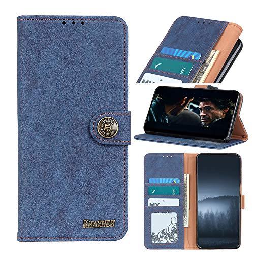 TOPOFU Funda para Xiaomi Black Shark 4/4 Pro,Funda Libro Cuero Carcasa con [Cierre Magnético] [Ranuras para Tarjetas],Estilo Retro Minimalista,Premium Flip Folio Cover Case-Azul