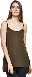 MANGO Cami & Strappy Tops For Women, Brown M, Size M