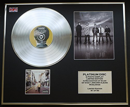 Oasis/CD Platin Scheibe & Foto Display/Limited Edition/(What 's The Story) Morning Glory ?