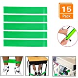 XIEGUANGHU Chair Bands Stretch Foot Band,15 Packs Bouncy Flexible Seating Chair Fidget Bands for Kids,Improves Student Focus,Relieves Stress and Anxiety,Works for ADD ADHD (Greeen)