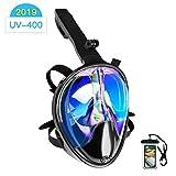 Maschera Subacquea,180 ° Vista panoramica Maschera da Snorkeling,Anti-Fog Maschera per Immersioni...