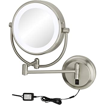 Amazon Com Kimball Young Chrome Neomodern Led Lighted Wall Mirror Hardwired Home Kitchen