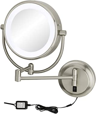 Kimball & Young Chrome NEOMODERN LED Lighted Wall Mirror - Hardwired