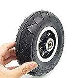 housesweet Neumático eléctrico Rueda Neumático Neumático Juego de tubos internos Neumático 8 pulgadas con reemplazo del neumático del cojinete del cubo de la rueda