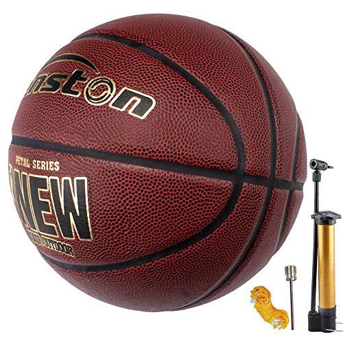 Senston Indoor/Outdoor Basketball Größe 7 Synthetik-Leder Arena Training Erwachsene Anfänger Basketbälle mit Inflator