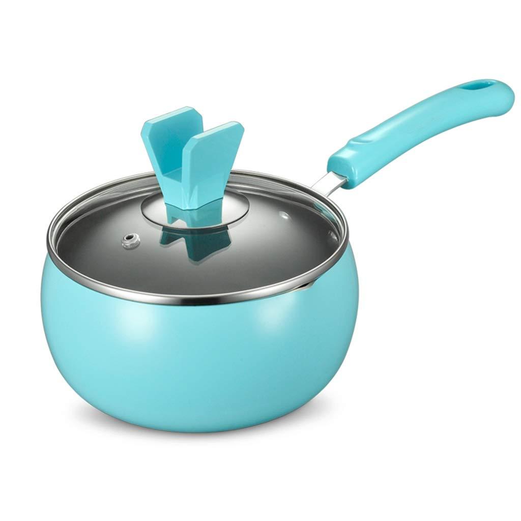 Cocina artesanal Sartén antiadherente Leche Doméstica Cacerola 16cm Suplemento de comida para bebés olla (color : Azul): Amazon.es: Hogar